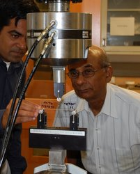 Dr. Basu and Student conduct experiment