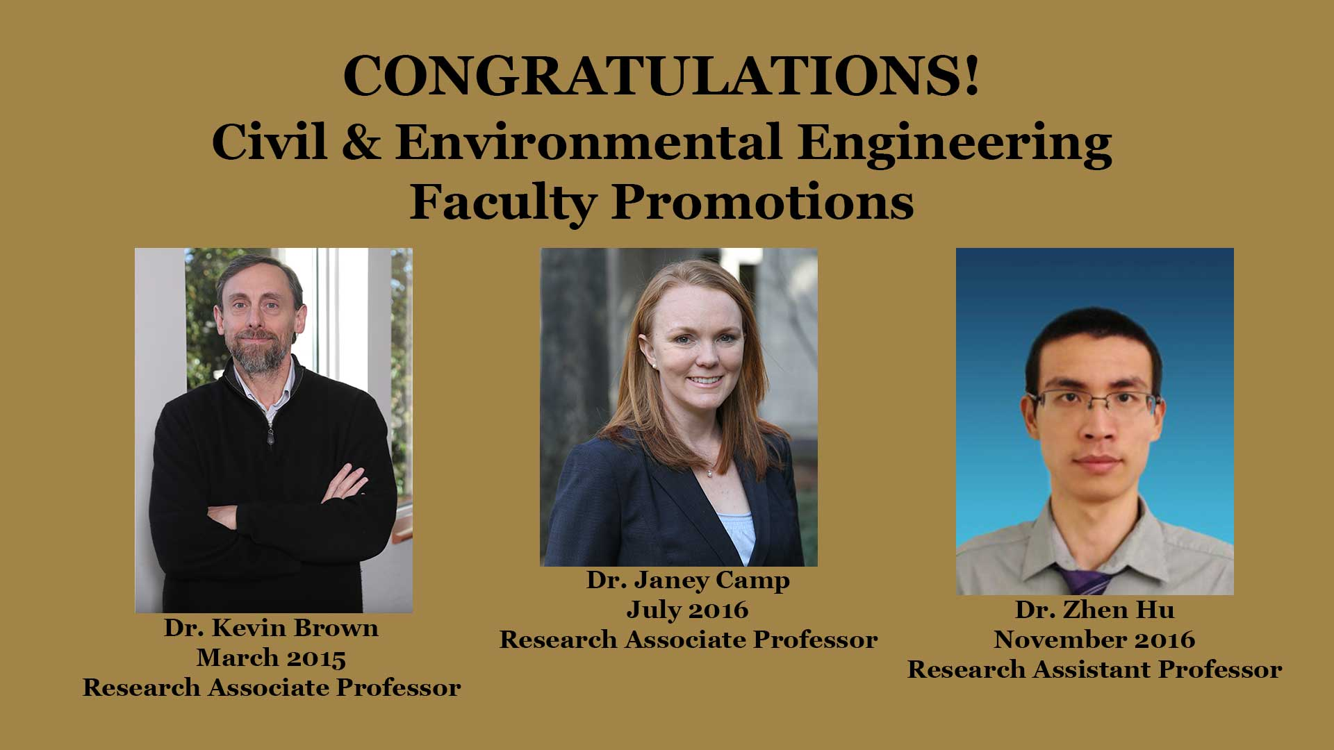Faculty Promotions 2015-2016