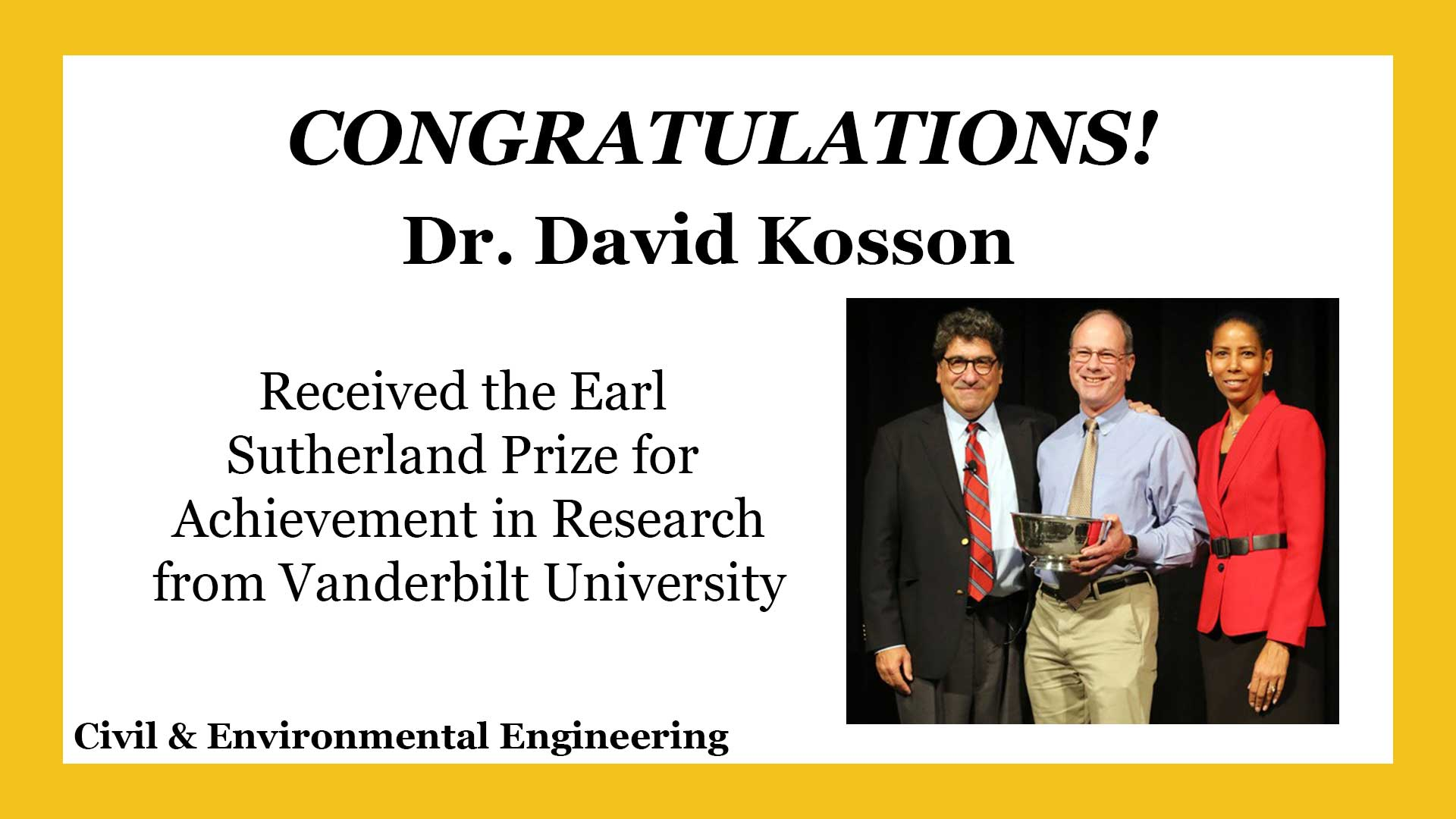 Kosson - Earl Sutherland Prize