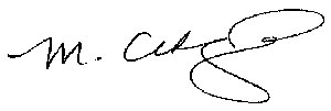 Michele Cedzich signature