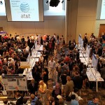 A move to the Student Life Center ballroom and a record number of senior design projects drew the largest crowd ever to the engineering school's annual Design Day.