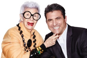 Fashion icon Iris Apfel, left, and Vanderbilt Engineering PhD and WiseWear founder Jerry Wilmink. (Photo courtesy of WiseWear)