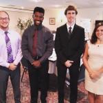 From left: Ethan Look (CS'18), Xavier Williams (EE'18), Trevor Hanken (ME'17) and Jacqueline Machesky (CEE'17). (Vanderbilt University/Heidi Hall)