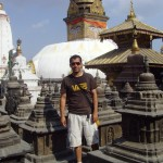 Dhiraj Prasai, a Vanderbilt Ph.D. candidate, stands by Swayambhunath Temple in Kathmandu in 2009, which was damaged in last week's earthquake. (Submitted photo)