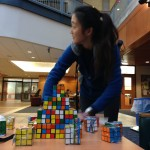 A fall semester E-Day, which included this Rubik's Cube station, provided a small preview of the spring semester E-Week. (Heidi Hall/Vanderbilt University)