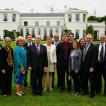 Members of Vanderbilt's cochlear implant program at Deerfield Residence, the official residence in Dublin of U.S. Ambassador to Ireland Kevin O'Malley.