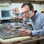 William Grissom, assistant professor of biomedical engineering, helped develop open-source software and hardware instructions for focused ultrasound machines. (John Russell/Vanderbilt University)