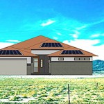 Rendering of a Modern Prairie zero energy home at Sterling Ranch in Colorado.