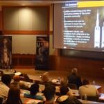 A panel of NASA experts discusses the SLS. (Brenda Ellis/Vanderbilt University)