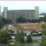 Sept. 11 webcam photo of the construction site.