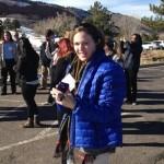 Leslie Gillespie-Marthaler touring a site adjoining Sterling Ranch in Colorado. (Heidi Hall/Vanderbilt University)
