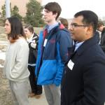 From left, engineering undergraduates Ben Cook, Hugh van Heesewijk and Virinchi Juttukonda on a tour of NREL. (Heidi Hall, Vanderbilt University)