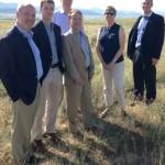 Vanderbilt's Sterling Ranch project team visited the site in July.
