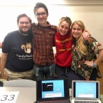 The Dylan's Bad Day team, from left: Will Cox (Math'17), Riley Stewart (CS'17), Jordan Pittman (MHS'17) and Heather Jackson (Eng'17).