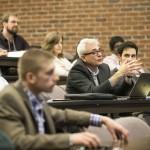 VISE Director Benoit M. Dawant asks a question. (Vanderbilt University/Joe Howell)